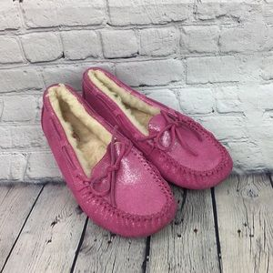 Ugg Pink Slippers Girls Size 3